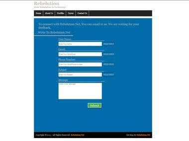 Custom Contact Page