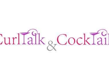 Curltalk and Cocktails Logo