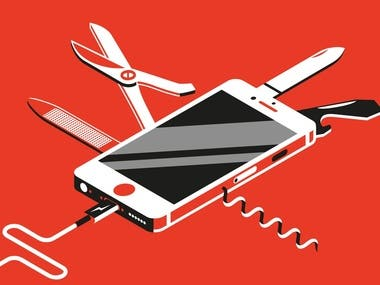 Swiss Army Iphone - Illustration