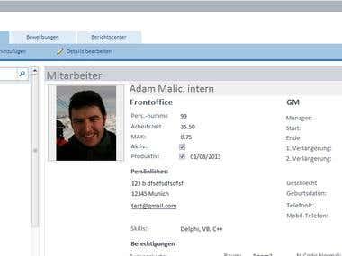 Employe / Contract Database - German