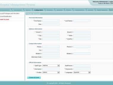 ASP.NET, C# and SQL SERVER - Hospital Management System