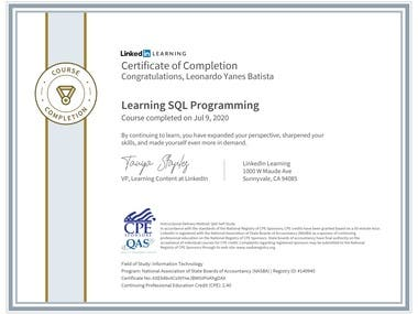 Learning SQL Programming