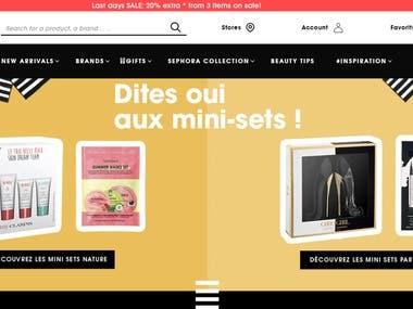 SEPHORA Online Shopping Website
