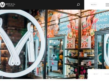 Website Design for Moe & Co.