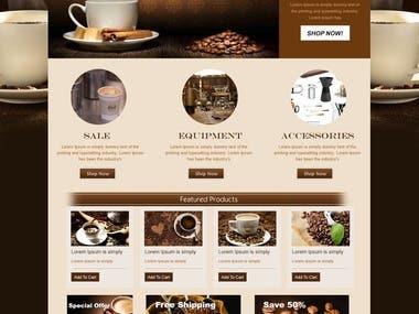 cofee store website