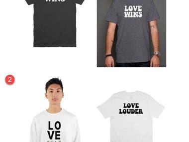 T shirt typography