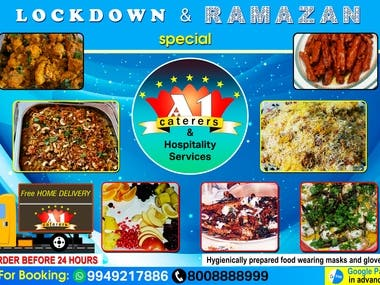 Poster design of a Caterer company