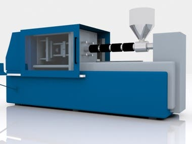 3D MODEL OF AN INJECTION MOLDING MACHINE