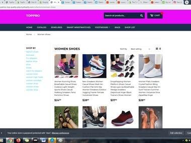 ecommerce website building