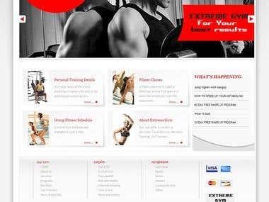 Design for GYM's web portal