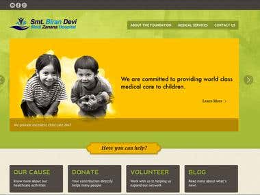 Website developed for a non-profit organisation