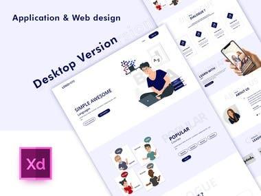 Language learning Website