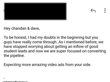 Email Testimonials From Clients