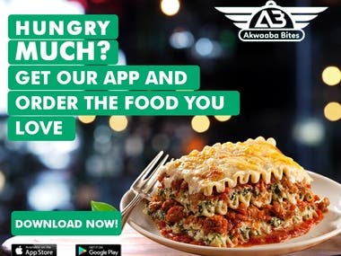 Ads for Food Application