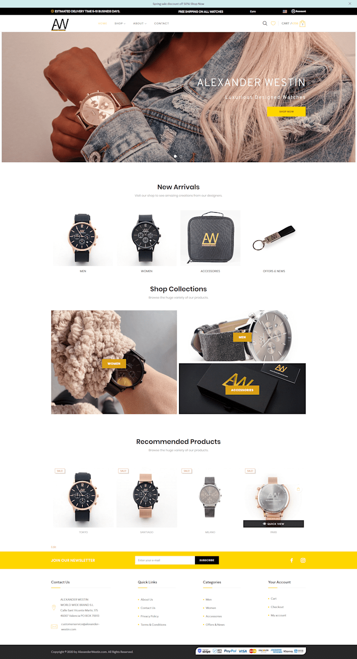 Watches e-Commerce