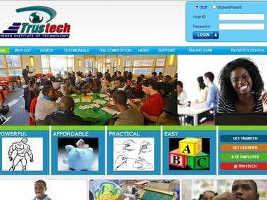 Online School Management Application