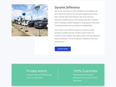 Wordpress Development - dynamicballoons.com