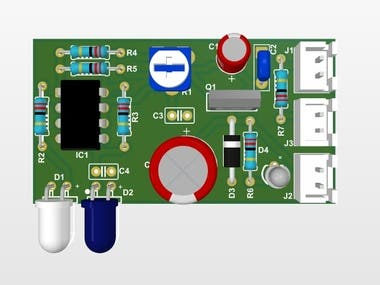 Contactless Hand Sanitizer PCB Design