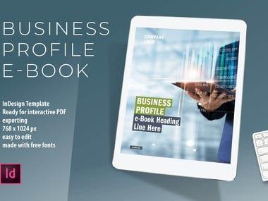 e-Book Business Profile InDesign Template