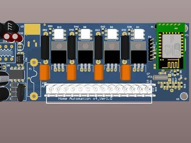 Home Automation System 4switch module