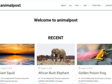 Animal Post