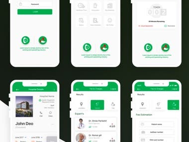 UI/UX: Mobile app design for Medical/Hospital