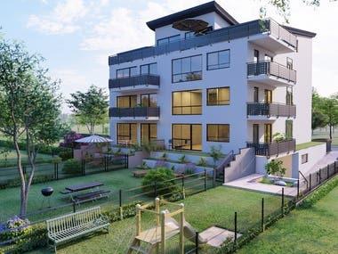 Landspace & Apartment