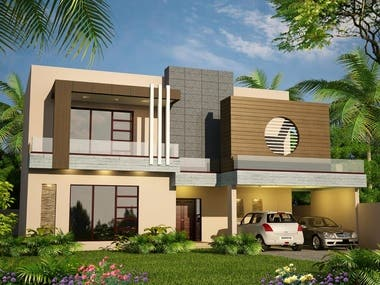 Rendered Images of House Exterior 2