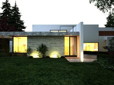 Rendered Images of House Exterior 4