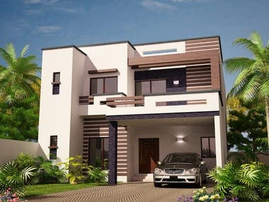 Rendered Images of House Exterior 5