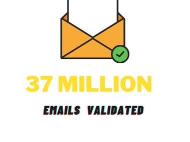 37 Million Emails Validated