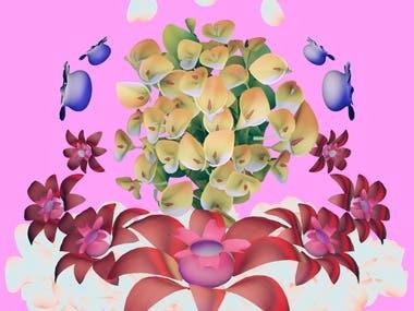 Digital Flower Bouquet