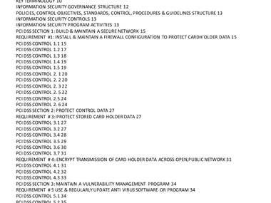 PCI DSS COMPLIANCE'S