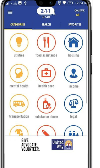 UTAH UNITED WAYS OF UTAH Ionic app