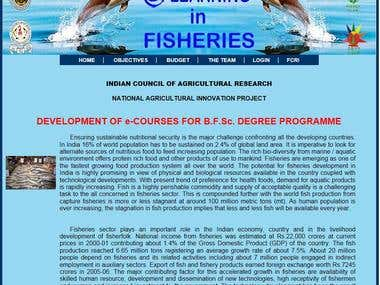 e-learning Website for fisheries