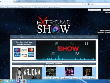 Events web page