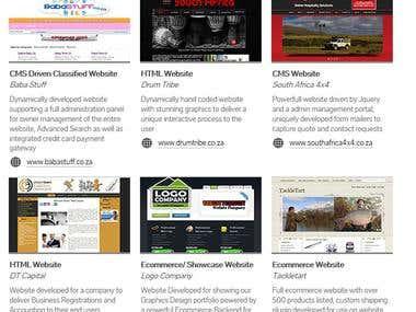 Websites Created