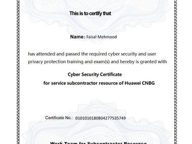 Certificate in Cyber Security