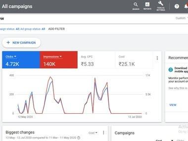 Google Ads campaign for e-com website