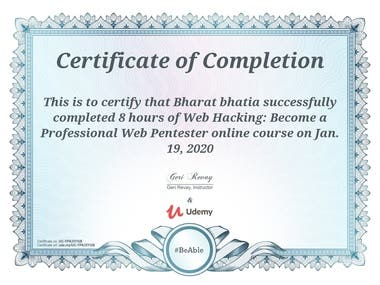 Web Hacking: Become a Professional Web Pen-tester Certified