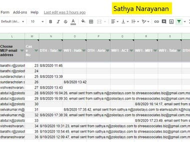 Sales / Operations process setting   Automated emails