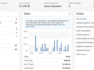 Overview -ebay Seller Hub