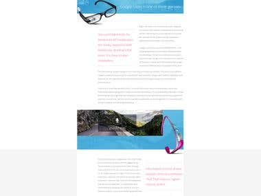 Through the Glass- Mobile Nations custom blog design
