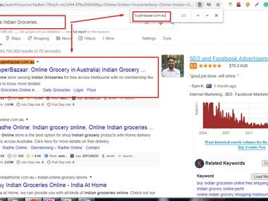 Top 1st page ranking on Google.com.au