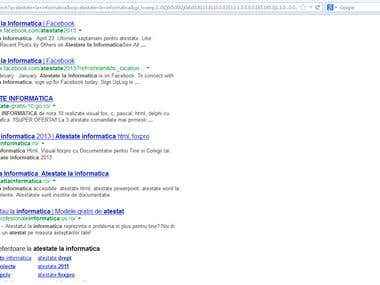 SEO Project for www.atestatlainformatica.ro