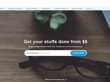 Website Like Fiverr & Freelancer