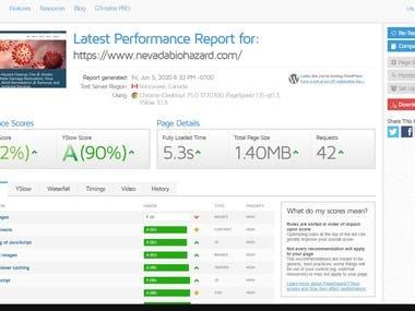 New Website Speed Optimization
