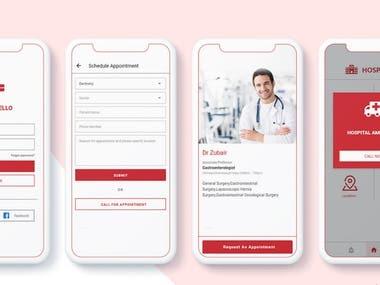 Healthcare application in hybrid platform.
