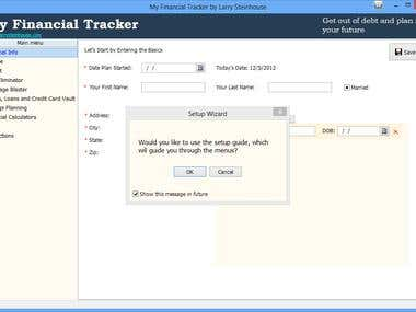 Windows application for personal Financial management