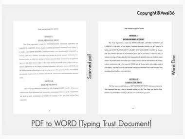 PDF to WORD [Typing Trust Document]